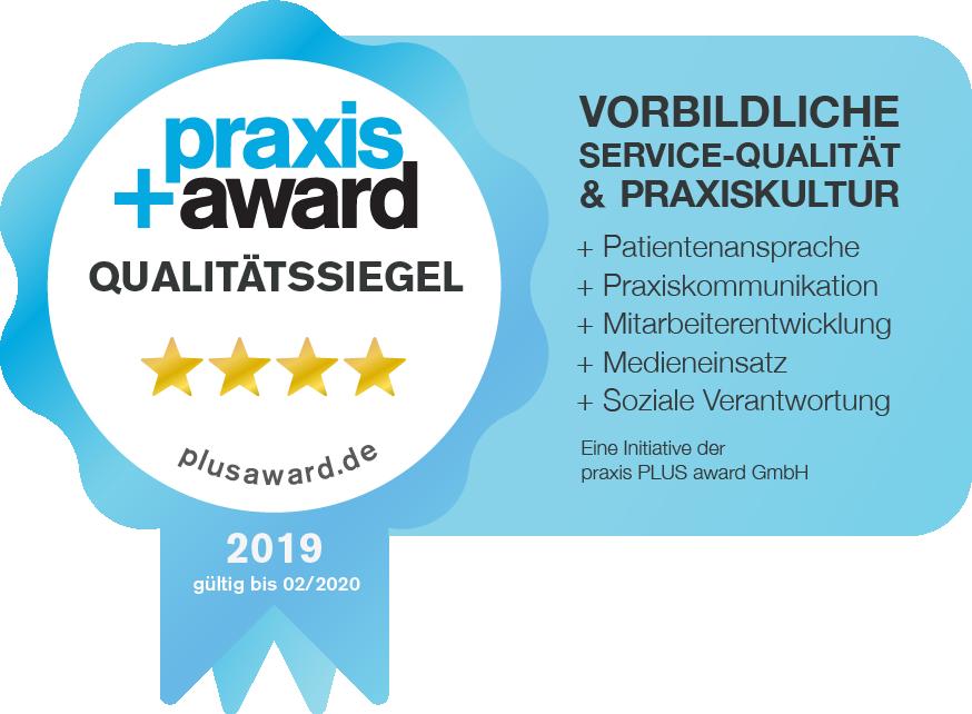 Zahnarzt Minden Praxis Award 4 Sterne